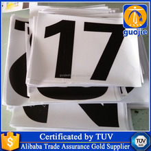 decorative vinyl car stickers,self adhesive number stickers