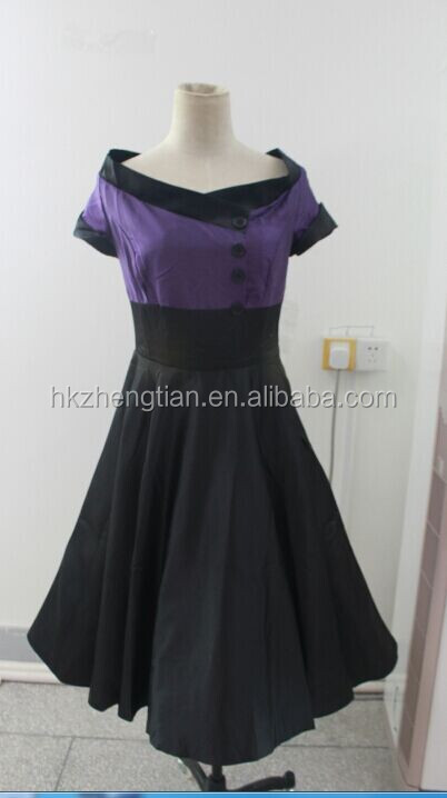 Wholesale Elegant Women Retro Rockabilly Swing Dress For Party Wear plus size 50s dress