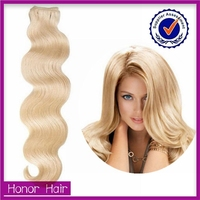 Buy human hair weave onlie,Grade 7A double drawn thick end blonde body weave brazilian hair weave