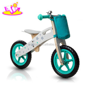 Newest design children walking bike wooden balanced boys bicycles without pedal W16C194