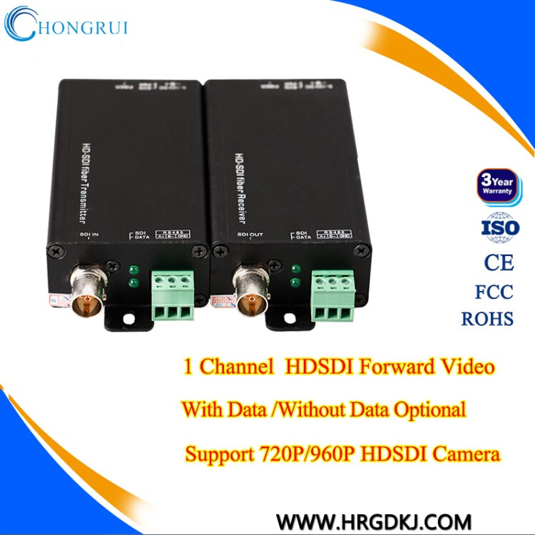High pixel Audio+RS485 1/2/4/8 ch hd-sdi converter over fiber