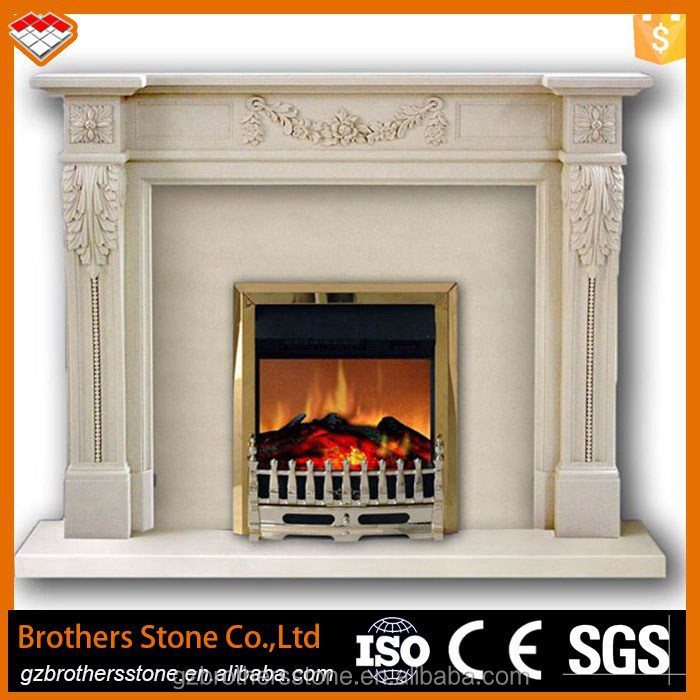 Indoor Used Decorative Fireplace Mantel Type The Marble Fireplace With Angel And Flowers