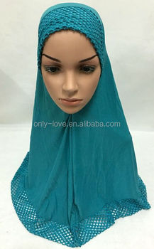 large size 70cm big muslim one peice hijab islamic scarf ML0132