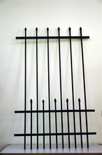 alibaba express Black Steel Privacy Tubular panels and gates / Cheap security Steel Tubular Garden Fencing and gates