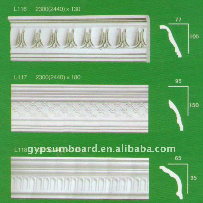 9mm gypsum wall relief decorative 3d wall panels grg