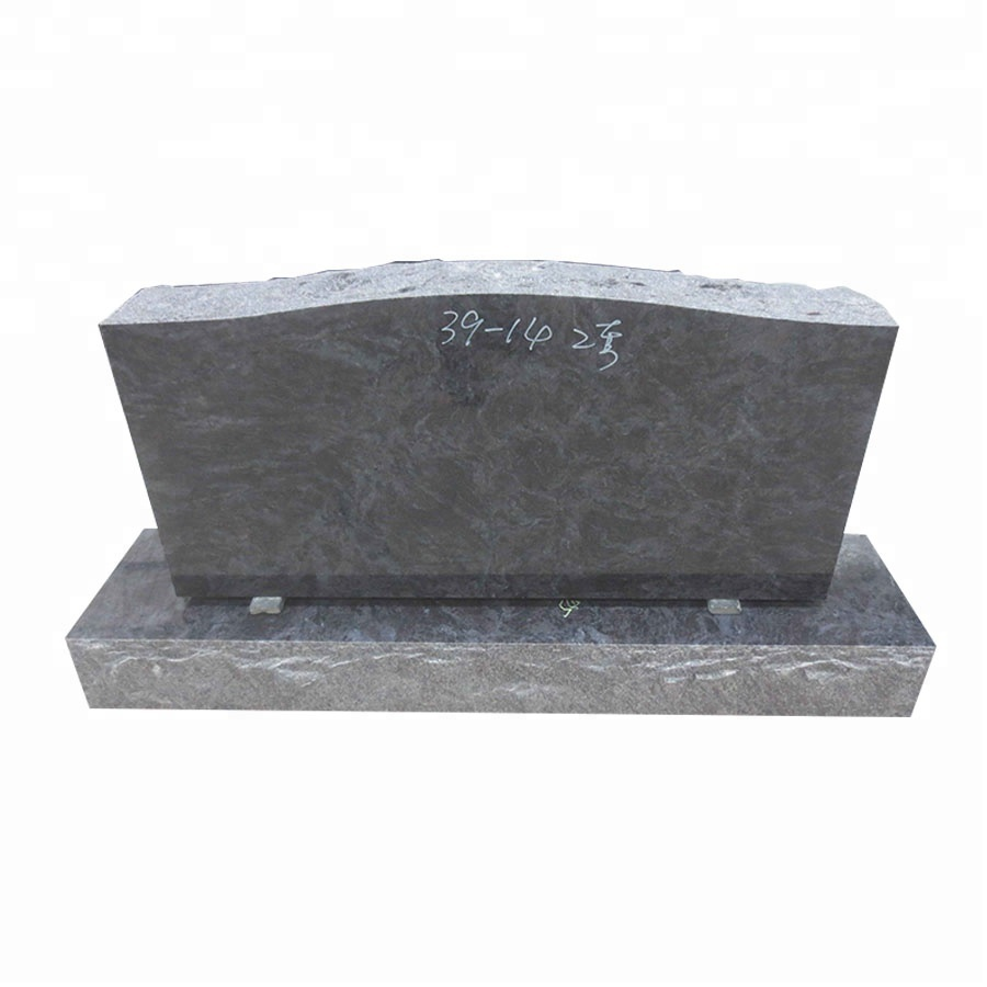 High quality cemetery usage Bahama <strong>Blue</strong> granite upright headstones design
