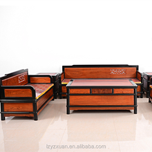 professional supply low price and unique designs natural hand-carved wooden sofa set for living room