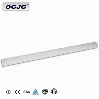 Factory Supply 20w 40w 50w 60w 0-10V dimming Underground Parking Lot Ceiling Light steel Housing IP44 led batten lighting