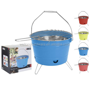 outdoor balcony barrel bbq charcoal grill / metal bbq charcoal bucket
