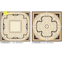 porcelain carpet tile 3D Flooring flower design floor tile