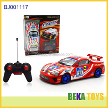 Best gift kids toy replica remote control racing cars red imitation plastic racer rc car
