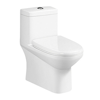 9180 Siphonic jet ceramic one piece toilet water closet