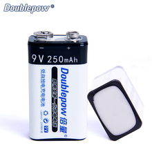 Hot Sale 9V 250mAh Full High Capacity Ni-MH Rechargeable Battery