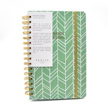 cardboard cover spiral notebook with elastic band
