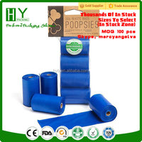 Eco-friendly material biodegradable certificate scented dog scented epi scented waste hdpe poop bags