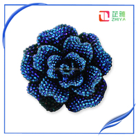 bright vibrant colours bow resin crafts flat back resin flower in AB colors