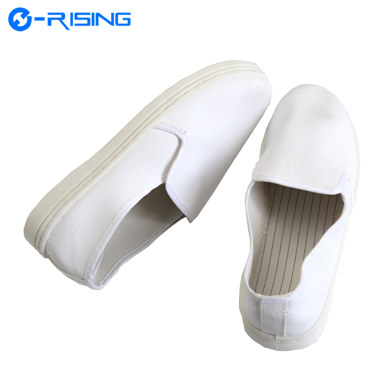 High quality White PVC Cleanroom Antistatic Safety Shoes