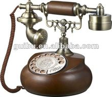 Cute Retro Wood Rotary Dial Phone for vintage antique home decor