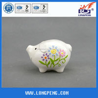 Novelty Ceramic White Piggy Coin Banks ,Ceramic Money Box for Kids