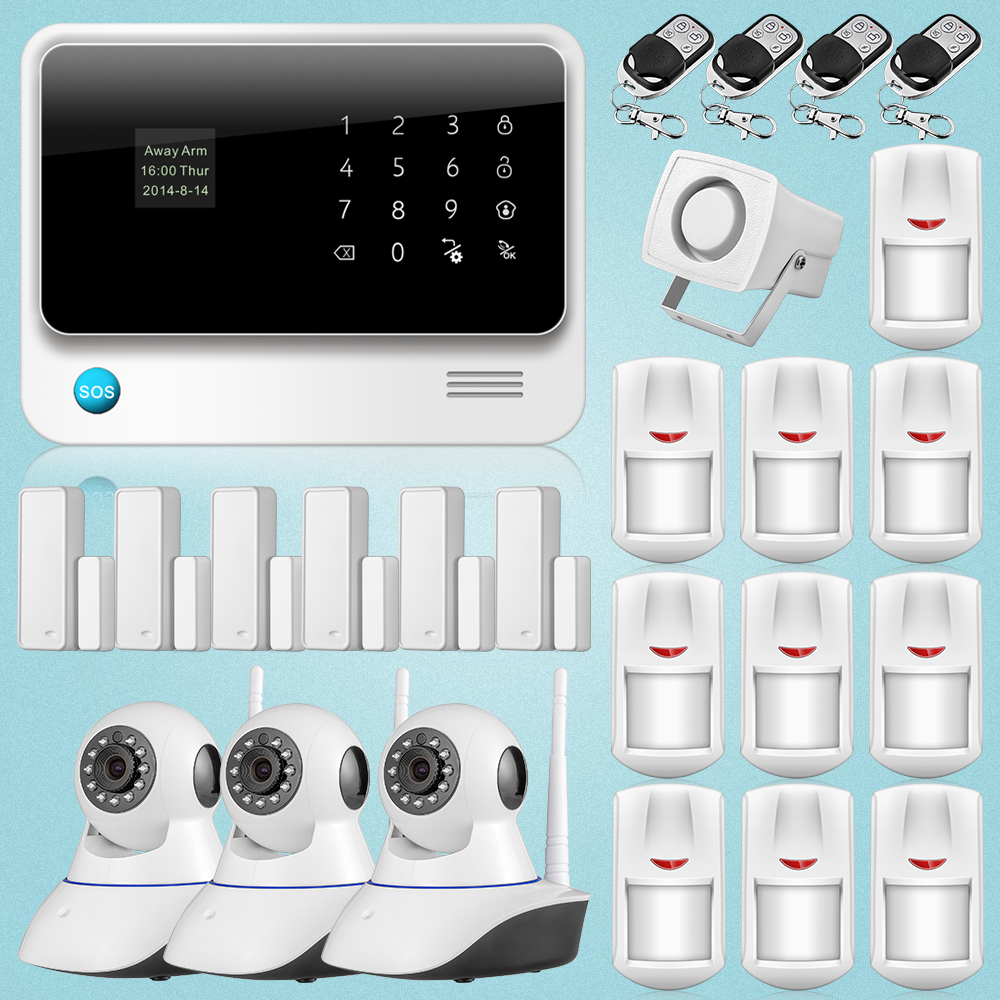 2018 New Hot Sales Wifi GSM Wireless Home Burglar Security HD IP Camera Alarm System