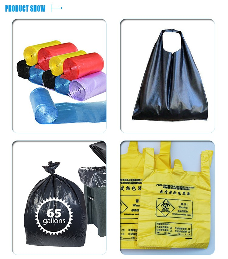 Manufacturer Custom Printing Logo Heavy Duty Biodegradable Plastic Garbage Bag Trash Bag