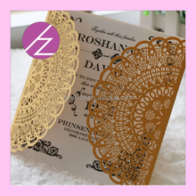 a4 wedding invitation card paper roll and muslim wedding invitation card QJ-70 Haoze Brand