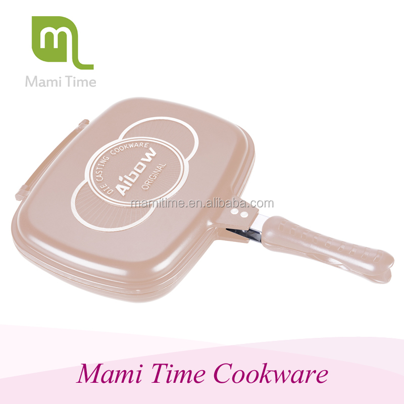 Multi Funtional Double Round frying pan magic double sided fry pan