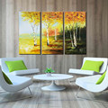 100% Handmade Golden Trees Autumn Natural Beauty Oil Painting
