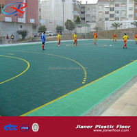 Portable interlocking futsal court floor outdoor