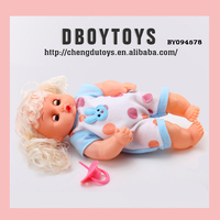 "14"" Cute crying baby doll with nipple toy"