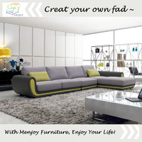 Latest colorful sofa design set latest corner sofa design WQ5812