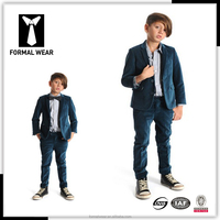 Fashion design green velvet suits for boys