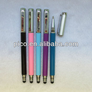 Cheap Price Metal Stylus Pen Touch Ball Pen with Pen Cap From China Wholesale Stationery
