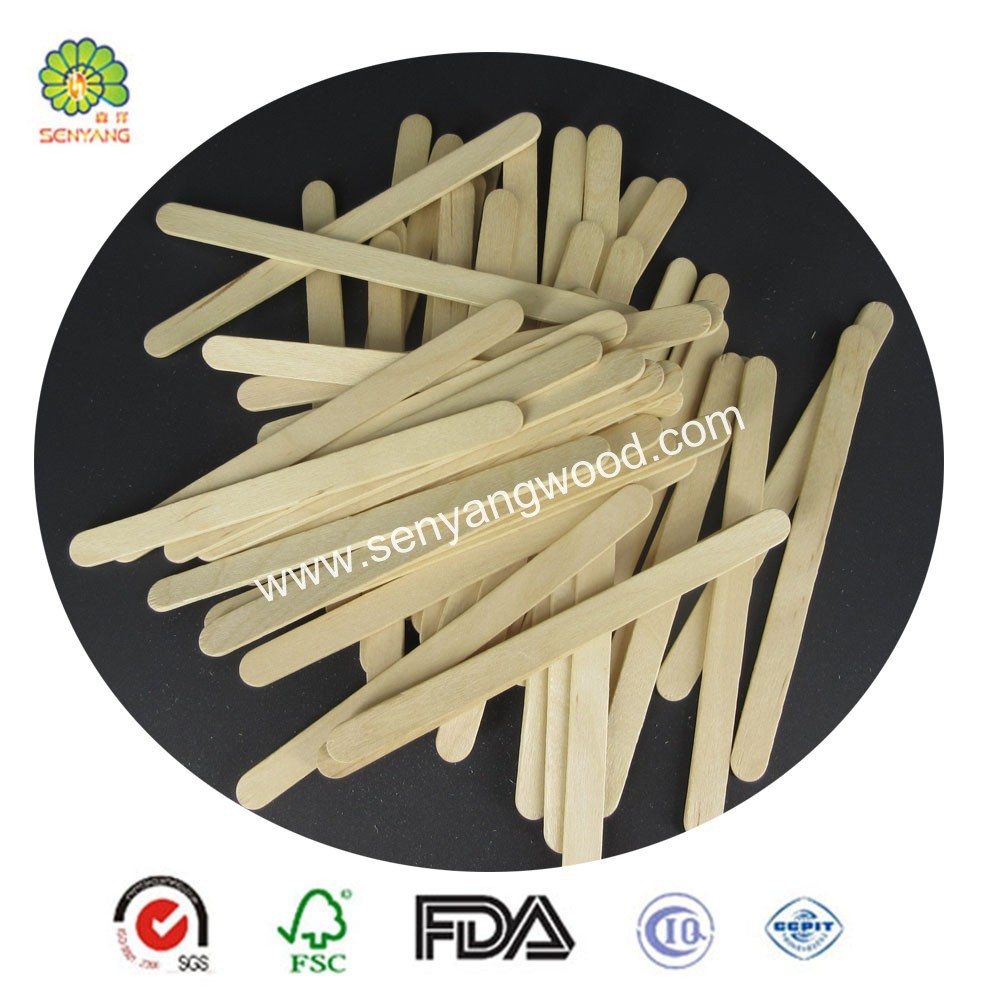 brands printed 100% natural birch wood sticks for ice cream