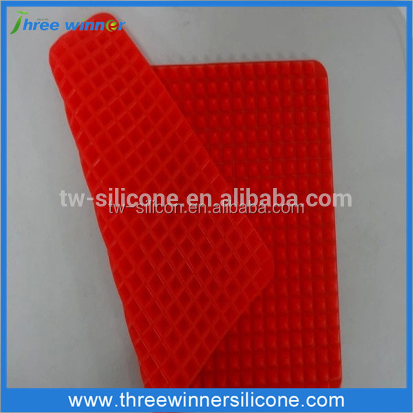 Red color pyramid pan silicone baking mat kitchen siliconee mat