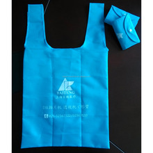 Customized polyester carry bag,recycle polyester foldable tote bag,pocket foldable tote bags