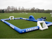 cheap outdoor inflatable kids and adult football field for holiday playing