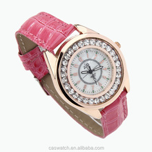 Hot sale Quartz watches Diamond face Geneva watch for lady