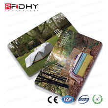 Silk Screen Printing Embossed mifare card for hotel lock system