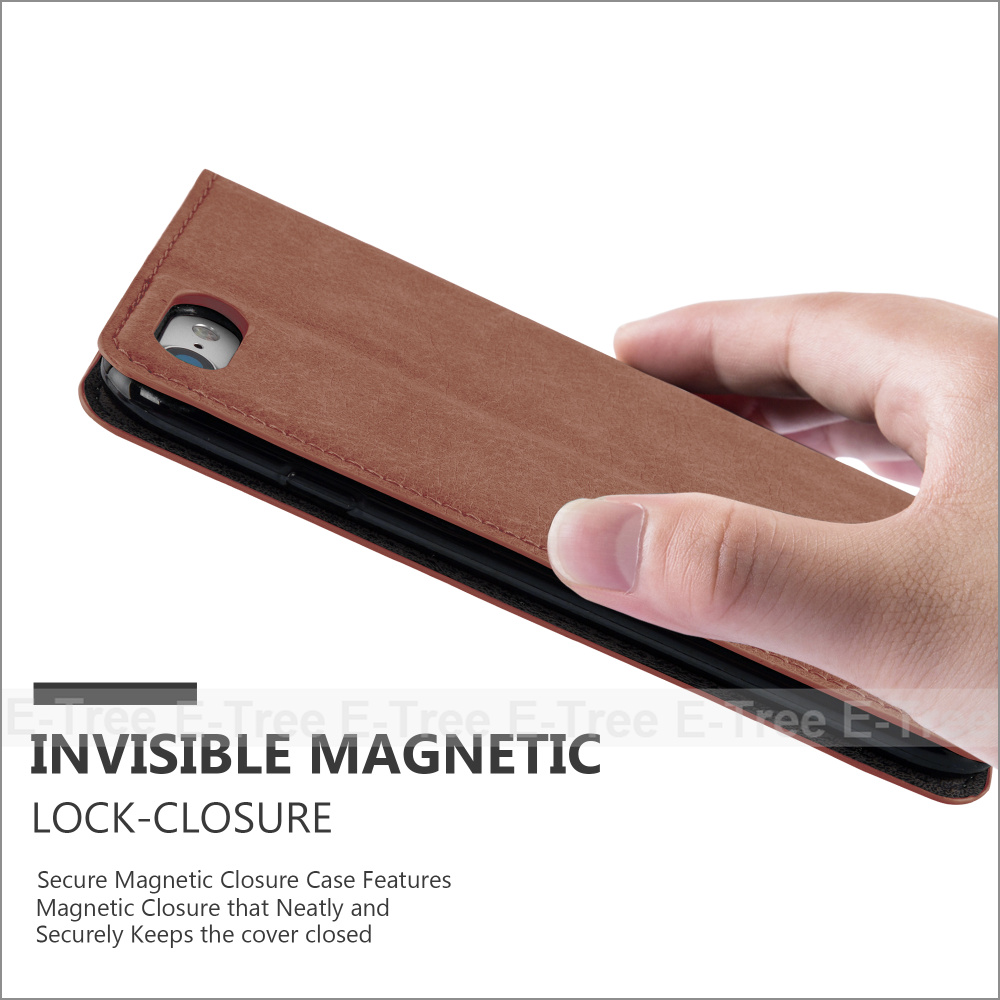 Wholesale Factory Price Magnetic Wallet Card Slot Cases For iPhone 7 Case Leather
