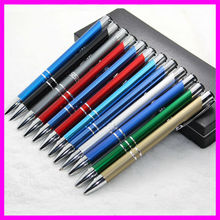 Vivid color promotional anodized aluminum pen, logo name printing ball pen