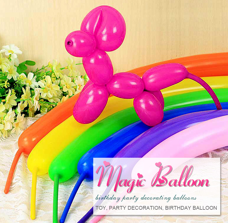 Magic Balloon for KidsChina wholesale kid toys gift 260Q long mix color magic balloons spiral shape