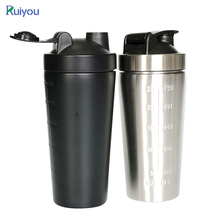 Wholesale metal bpa free custom logo sport stainless steel protein blender shaker bottle,gym bottle