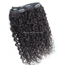 Customized service accepted hairpins in hair on sales hair extension kinky curly clip in hair