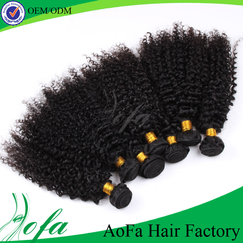 Cheap price unprocessed 24 inch brazilian remy curly human hair extensions