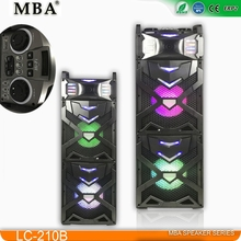 2017 OEM High Cost-Effective Double 10 inches 2.0 Active Stage Speaker with USB SD FM radio Bluetooth Remote Control
