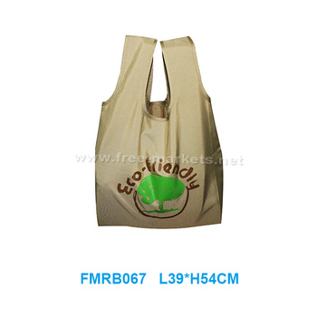 Customized eco-friendly reusable recycled PETsoft shopping bag with handle
