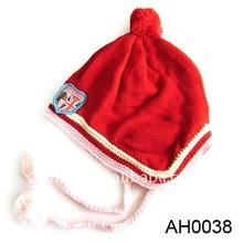 promotion red acrylic baby hat