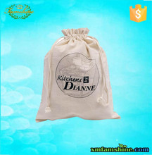 wholesale high quality canvas cotton drawstring shoe bag