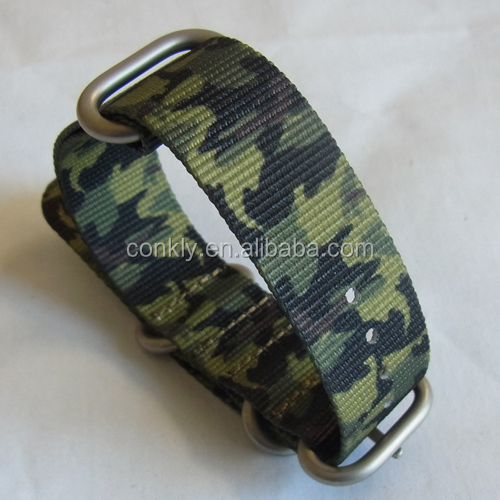 18mm 20mm camo nylon zulu wrist watch band for watch stainles steel buckle